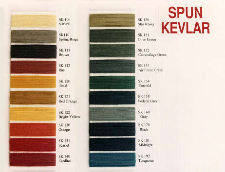 Sewing Threads - tenara nomex vectran spungold
